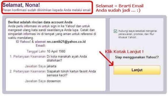 Selamat Email Anda Jadi