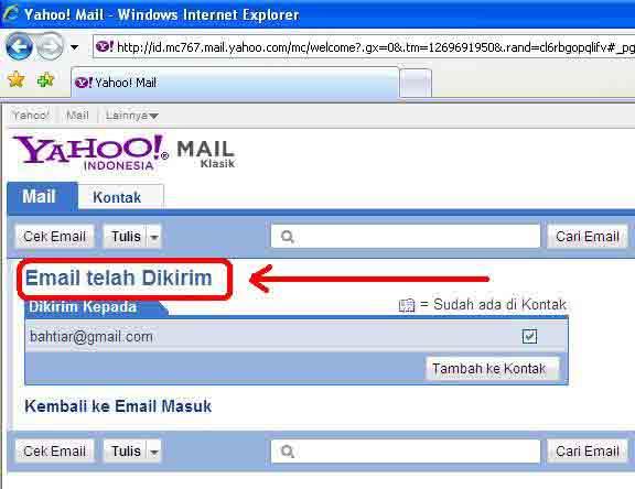 Email Telah Terkirim