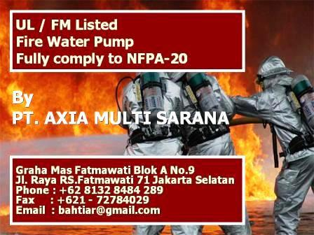 UL FM Listed NFPA 20 bahtiar@gmail.com
