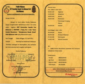 Undangan ULTAH Komunitas Sepeda Tua Makassar